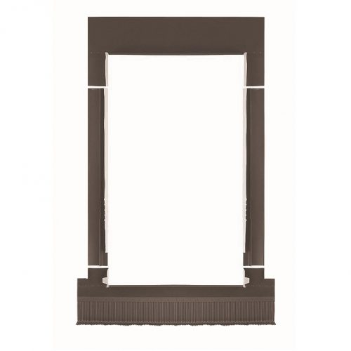 carpintería aluminio - tapajuntas ondulado